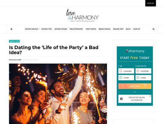 Is Dating the 'Life of the Party' a Bad Idea? | eharmony Advice
